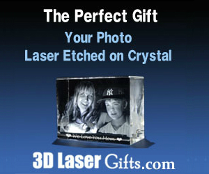 Your Photo Laser Etched on Crystal